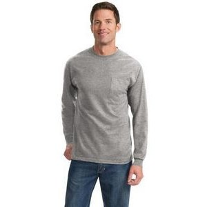 Port & Company® Men's Long Sleeve Essential Tall Pocket T-Shirt