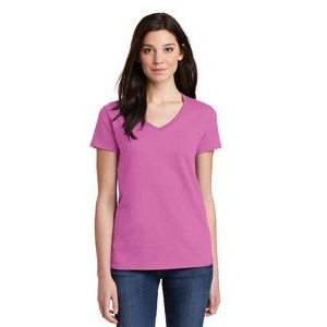 Gildan® Ladies' Heavy Cotton™ 100% Cotton V-Neck T-Shirt