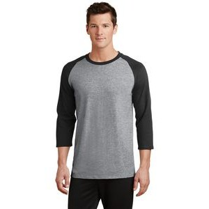 Port & Company® Men's Core Blend 3/4-Sleeve Raglan T-Shirt