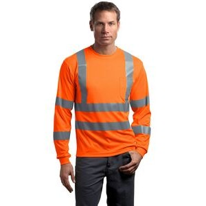 Cornerstone® ANSI 107 Class 3 Long Sleeve Snag-Resistant Reflective T-Shirt