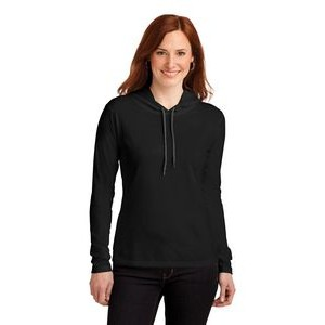 Anvil® Ladies' 100% Combed Ring Spun Cotton Long Sleeve Hooded T-Shirt