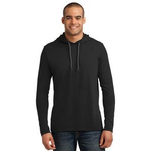 Anvil® Men's 100% Combed Ring Spun Cotton Long Sleeve Hooded T-Shirt