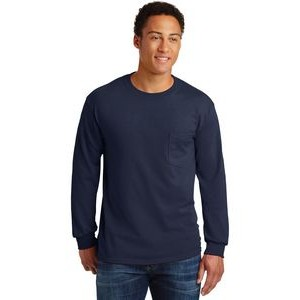 Gildan® Men's Ultra Cotton® 100% Cotton Long Sleeve T-Shirt w/Pocket