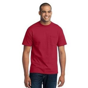 Port & Company® Men's Tall Core Blend Pocket T-Shirt