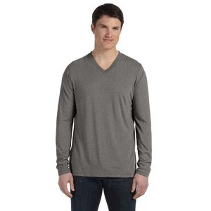 Canvas Unisex Jersey Long-Sleeve V-Neck T-Shirt