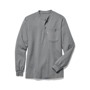 Flame Resistance (FR) Button Down Henley T Shirt