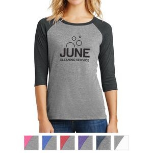 District® Ladies' Perfect Tri™ 3/4-Sleeve Raglan