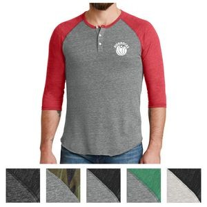 Alternative® Men's Eco-Jersey™ 3/4-Sleeve Raglan Henley