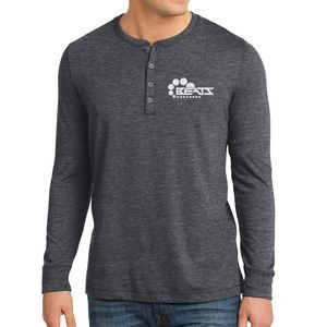 District® Young Men's Gravel 50/50 Long Sleeve Henley Tee