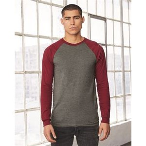 Bella+Canvas® Jersey Long Sleeve Baseball T-Shirt