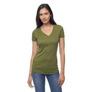 Viscose Hemp & Organic Cotton V Neck Tee Shirt